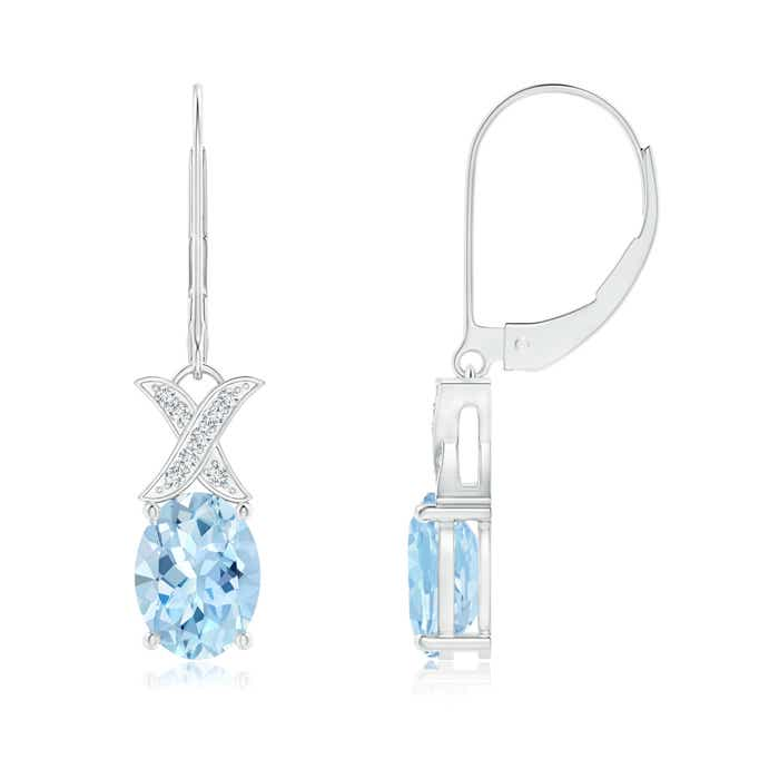 Angara Rose Gold Aquamarine Leverback Earrings qcxyZX7