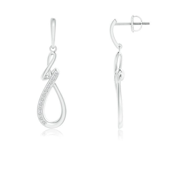 Angara Pave Diamond Abstract Infinity Drop Earrings dz4RKS9qSp