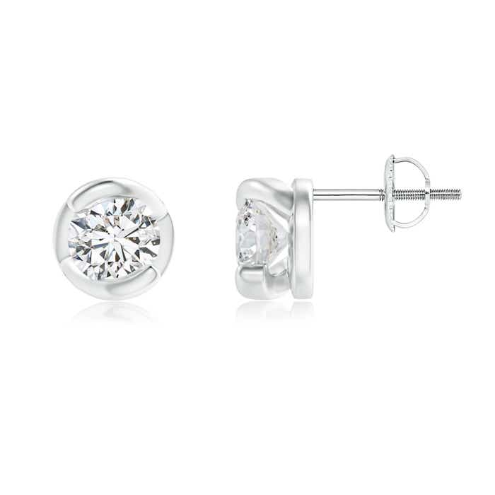 Angara Spiral-Framed Diamond Solitaire Stud Earrings xUXHLtR7Q