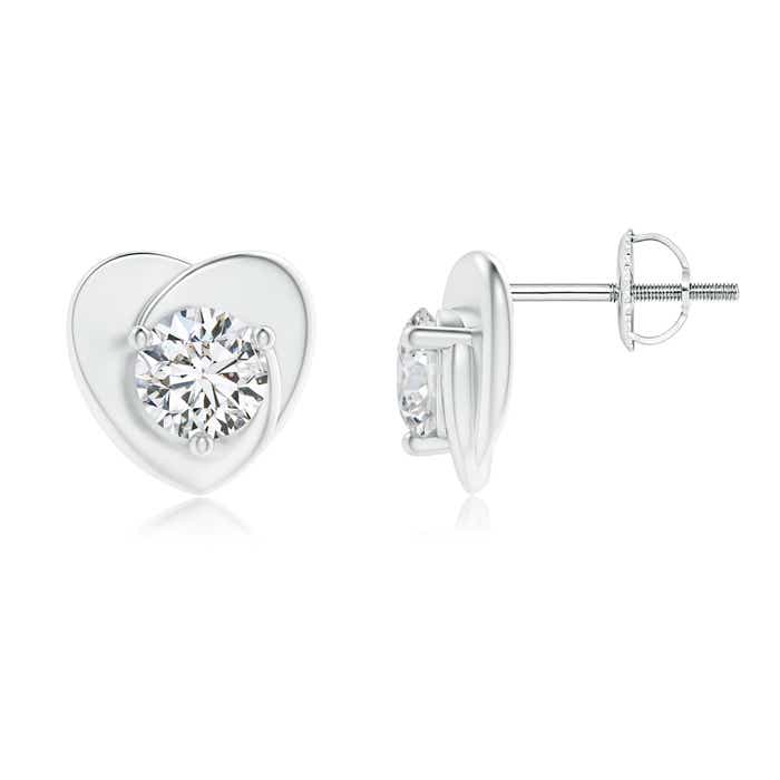 Angara Solitaire Round Diamond Pinwheel Stud Earrings NskR0mad