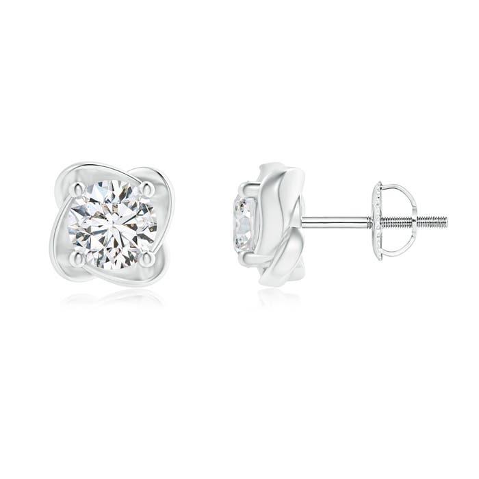 Angara Prong-Set Solitaire Diamond Starburst Stud Earrings Yna4Hz8