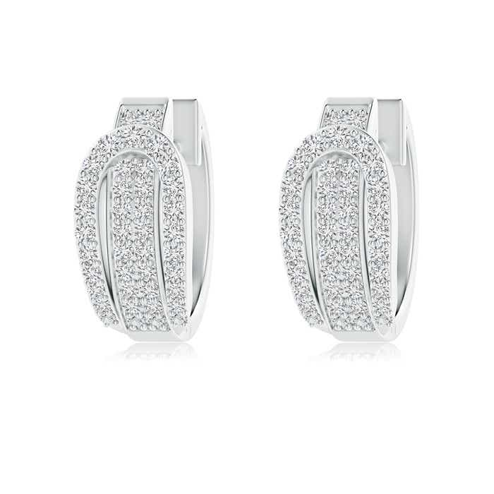 Angara Pave-Set Diamond Earrings in White Gold Gq2fI