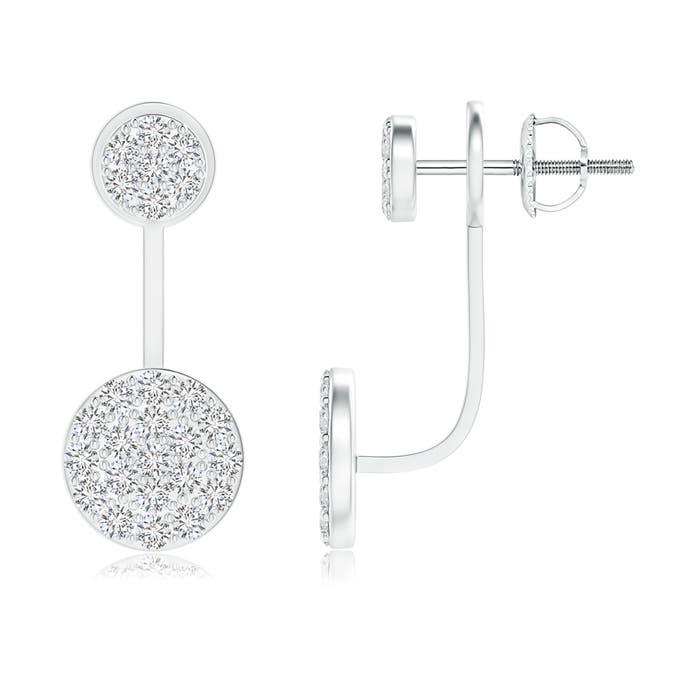 Angara Two-Tier Diamond Cluster Halo Stud Earrings ZHLRajSS
