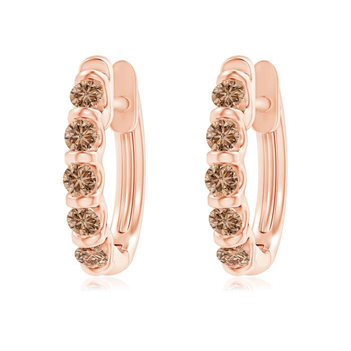 Angara Pave Diamond Huggie Earrings in Rose Gold yf8csuIy5z
