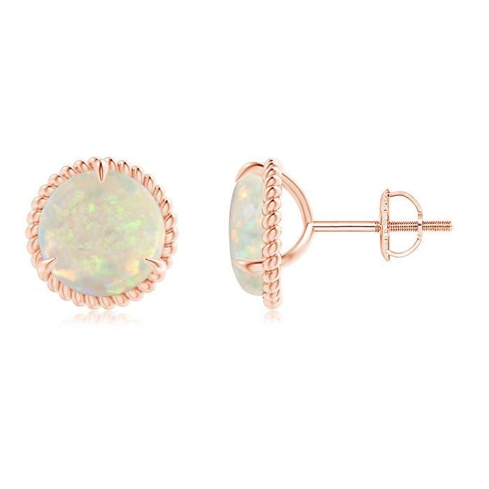 Angara Rope Framed Claw-Set Peridot Martini Stud Earrings 8LfG8