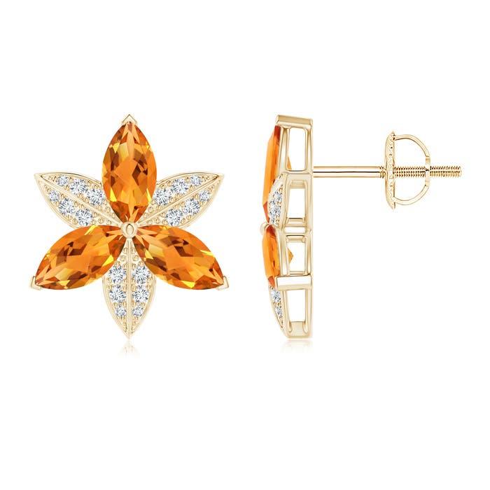 Angara Pear and Marquise Citrine Grapevine Earrings vUsoDCxTi