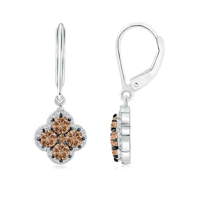 Angara Dangling Diamond Cross Earrings in Yellow Gold HJTPO1