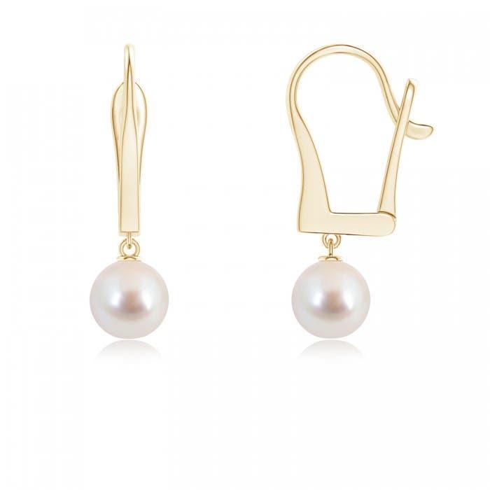 Angara Akoya Cultured Pearl and Diamond Leverback Earrings oSons3u