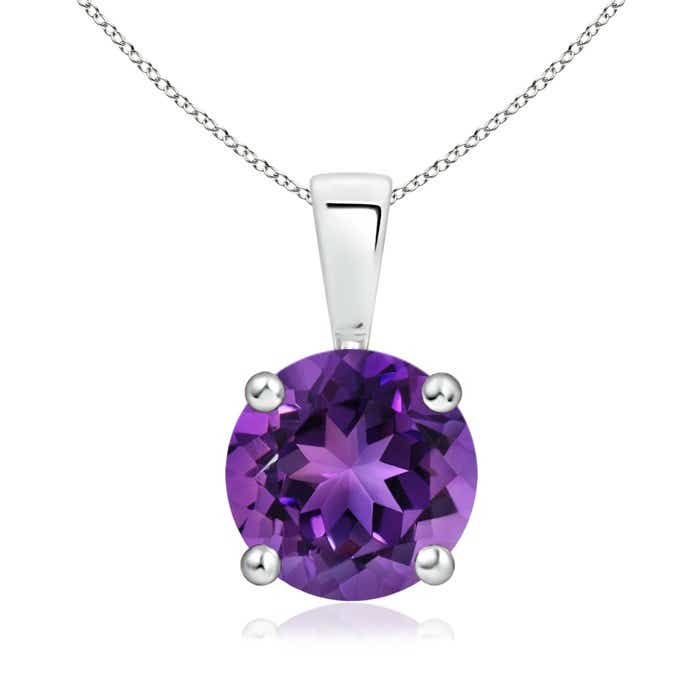 Angara Amethyst Solitaire Pendant in Yellow Gold TDfQN