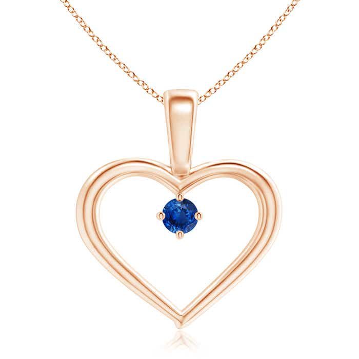 Angara Heart Shaped Blue Sapphire Pendant in Platinum ADxUrTQ2N