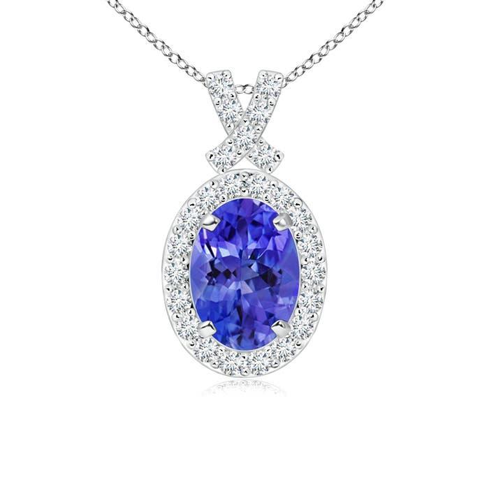 Angara Classic Tanzanite and Diamond Necklace mxwU3E