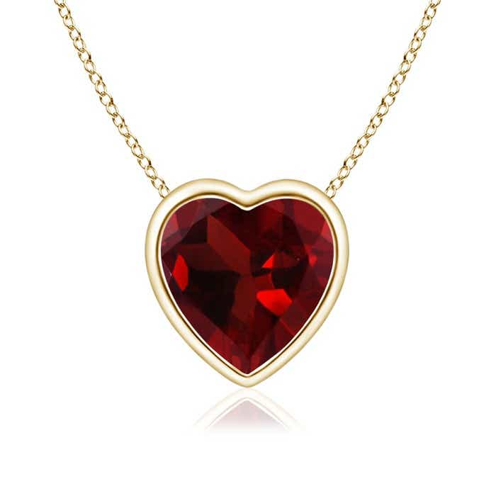 Angara Bezel-Set Garnet Pendant Necklace in White Gold WZQxgF