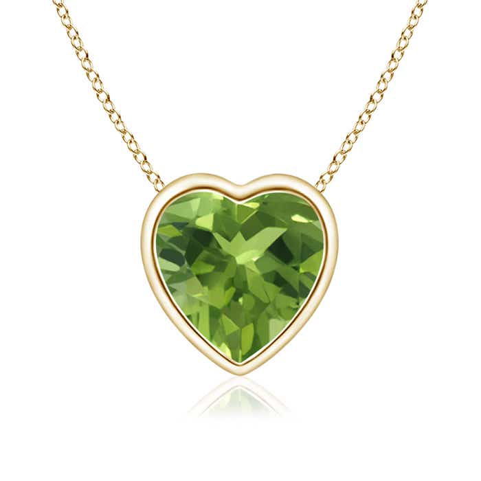 Angara Solitaire Peridot Pendant in Yellow Gold XTfvggz