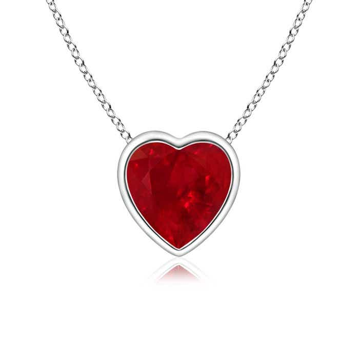 Bezel set solitaire heart ruby pendant angara previous aloadofball Gallery