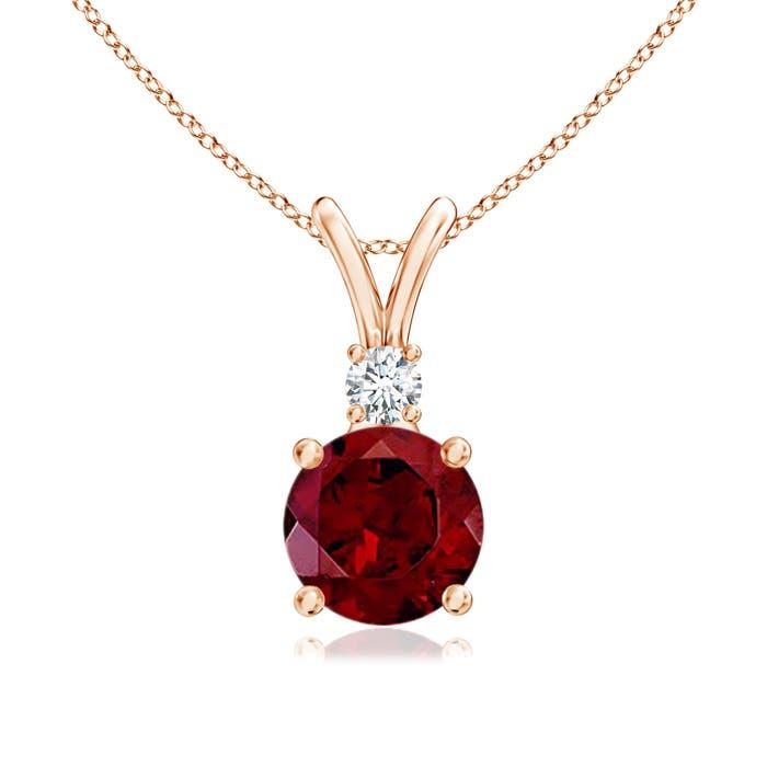Angara Garnet Pendant in Rose Gold eynDA