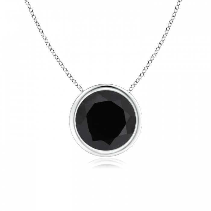 Angara Womens Black Onyx Necklace in Yellow Gold mH36EO10