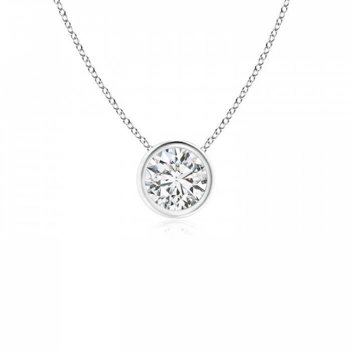 Angara Solitaire Diamond Cross Pendant O05Z1n