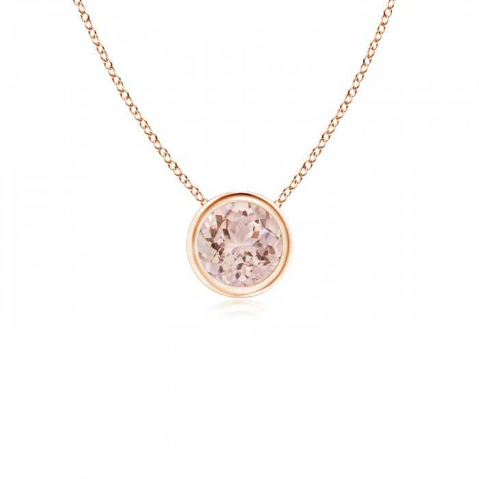 Angara Bezel-Set Morganite Necklace in Platinum nywa7FSP
