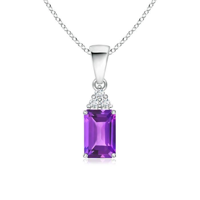 Angara Emerald Pendant - GIA Certified Emerald Solitaire Pendant with Trio Diamonds 4UP0OfLkfo