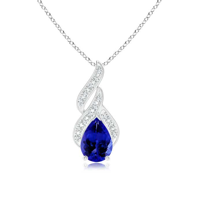 Angara Solitaire Pear-Shaped Tanzanite Flame Pendant XzcjhqSF