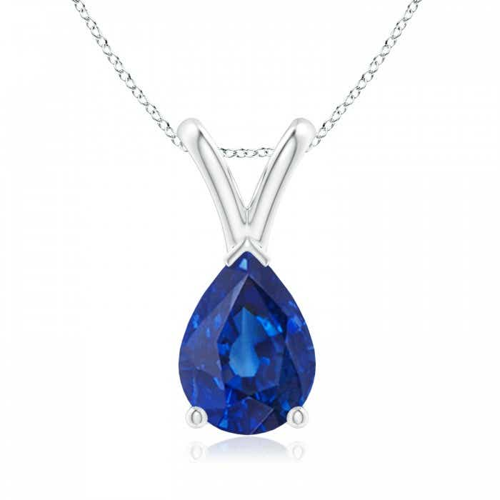 Angara Floating Blue Sapphire Pendant in Rose Gold 8y8YNSd6ns
