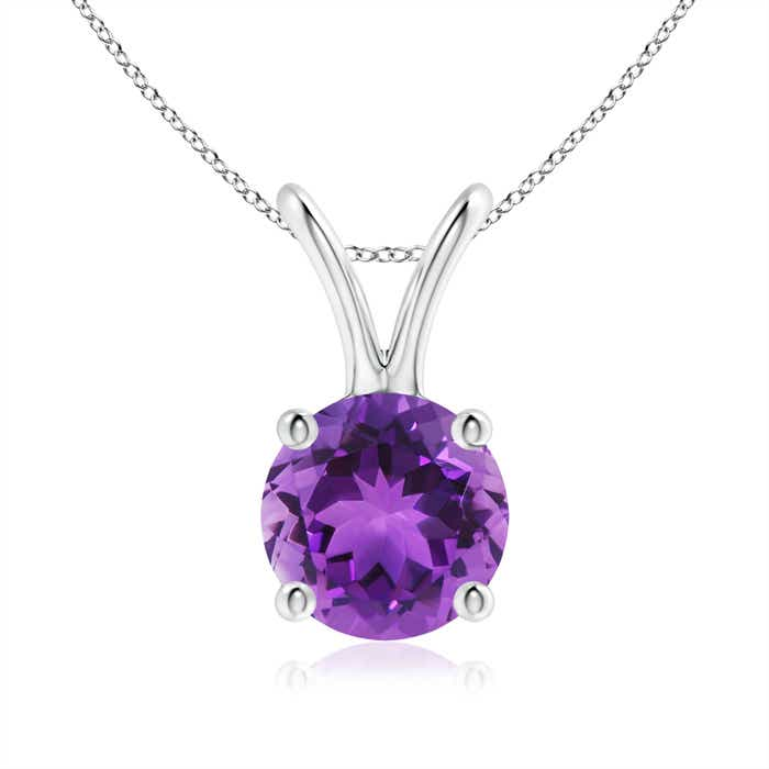 Angara V-Bale Amethyst Pendant Necklace Yellow Gold zPWCzTu1c