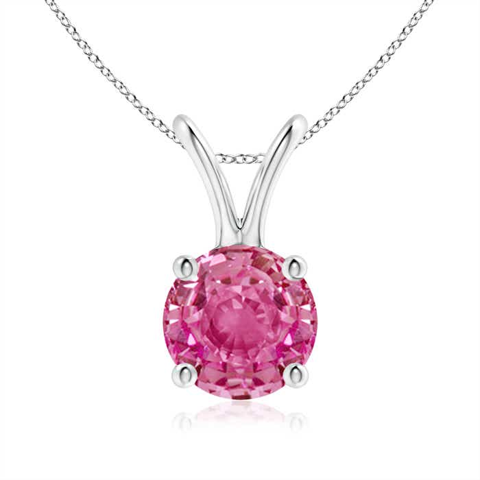 Angara Solitaire Ruby V-Bale Pendant in Yellow Gold NMz4bYhWu