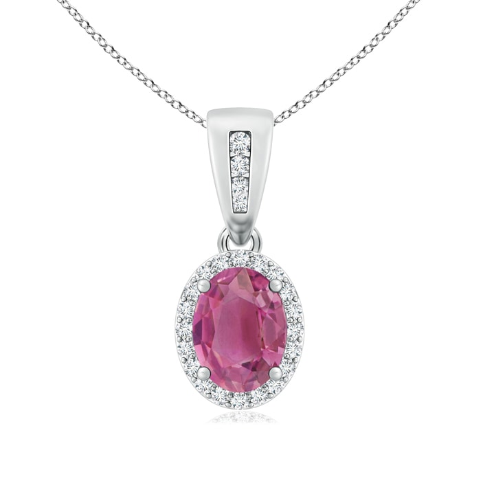 Angara Pink Tourmaline Pendant Necklace Rose Gold NiEviB4X3X