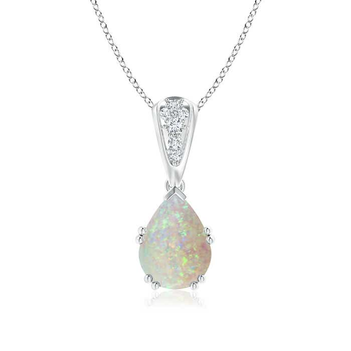 Angara Pear-Shaped Opal Solitaire Pendant UCKlM