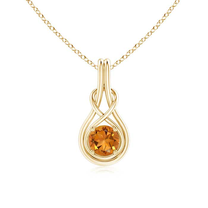 Angara Citrine Infinity Knot Pendant with Diamonds JG09mg5