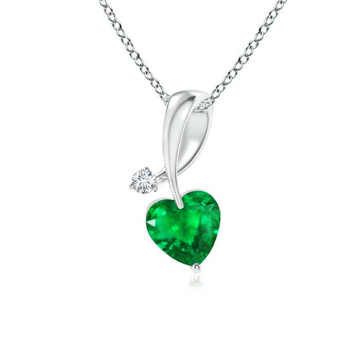 heart silver shop zales created emerald in shapeshop from shaped sterling earrings crown gold lab plate with