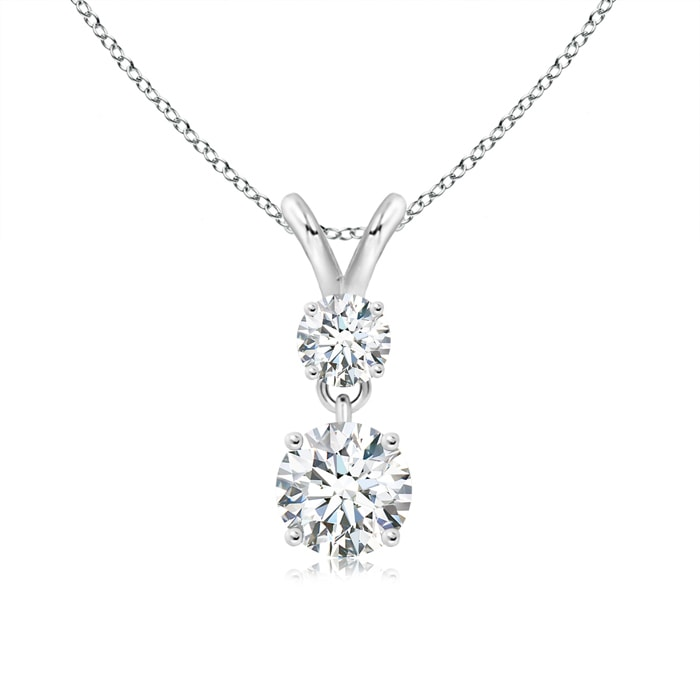 Angara Moissanite Necklace Pendant in Yellow Gold 062IQi1K4x
