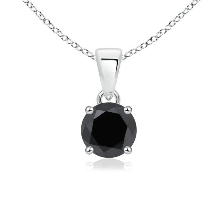 Angara Enhanced Black Diamond Three Stone Pendant U4KxcY
