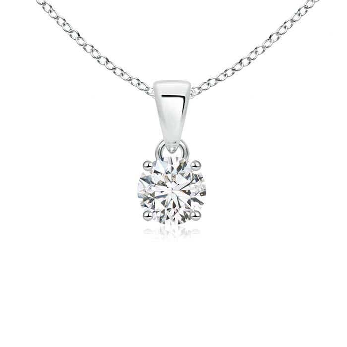 Angara Classic Round Diamond Solitaire Pendant 2DdU0CC