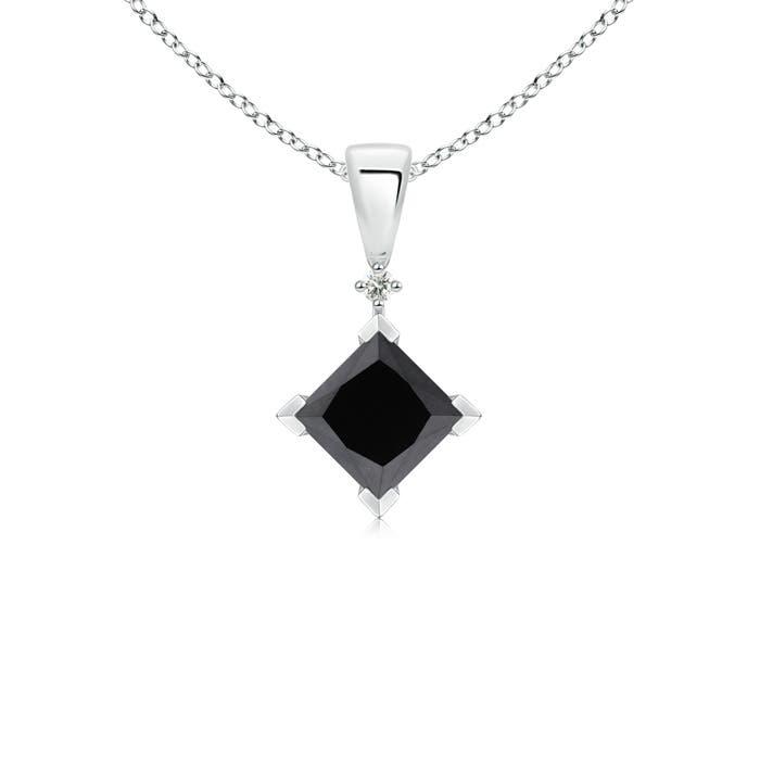 Angara Princess-Cut Diamond Solitaire Pendant e6Ohdg
