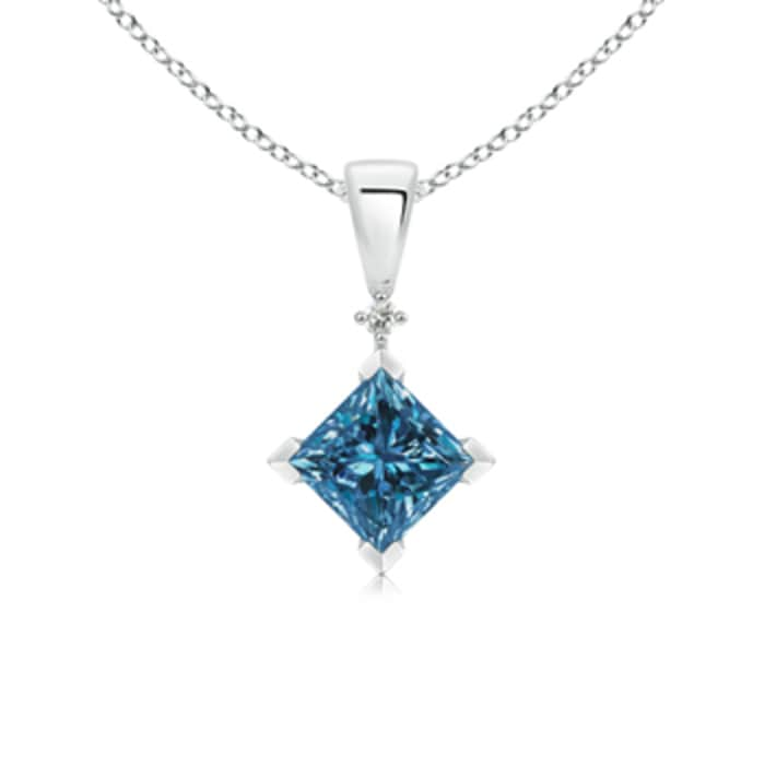 Angara Princess-Cut Diamond Pendant OZqo7e