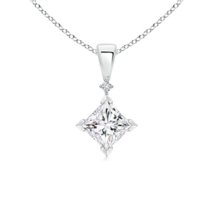 Angara Princess-Cut Diamond Pendant s9nLTu