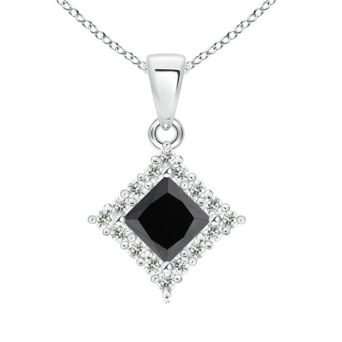 Angara Princess-Cut Enhanced Black Diamond Pendant sfZwq4eZ5y