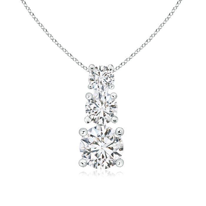 Angara Three Stone Diamond Journey Pendant OO6166