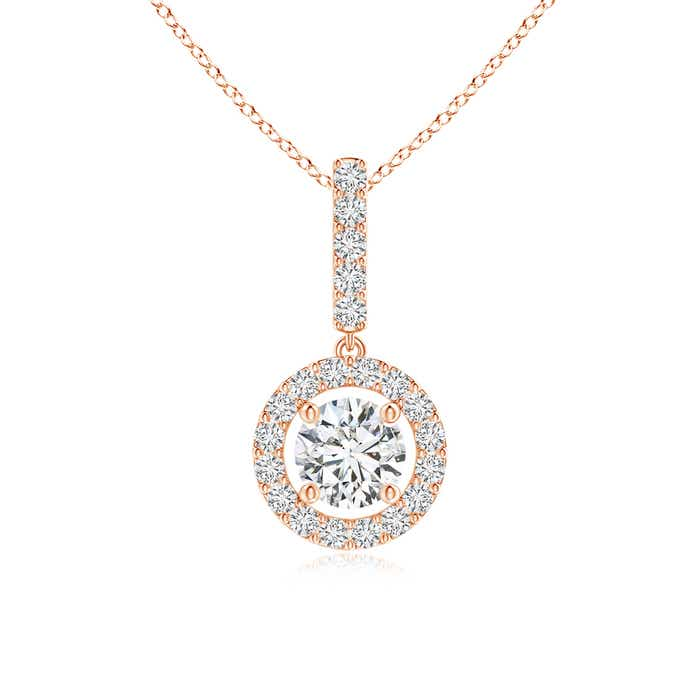 Angara Floating Halo Princess-Cut Diamond Pendant QokAsbsc