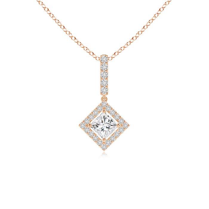 Angara Princess-Cut Diamond Pendant RPtAvpaW