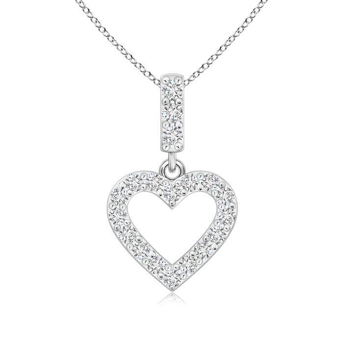 Angara Open Heart Diamond Pendant xiRQc8fRH9
