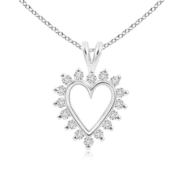 Angara Diamond Open Heart V-Bale Pendant