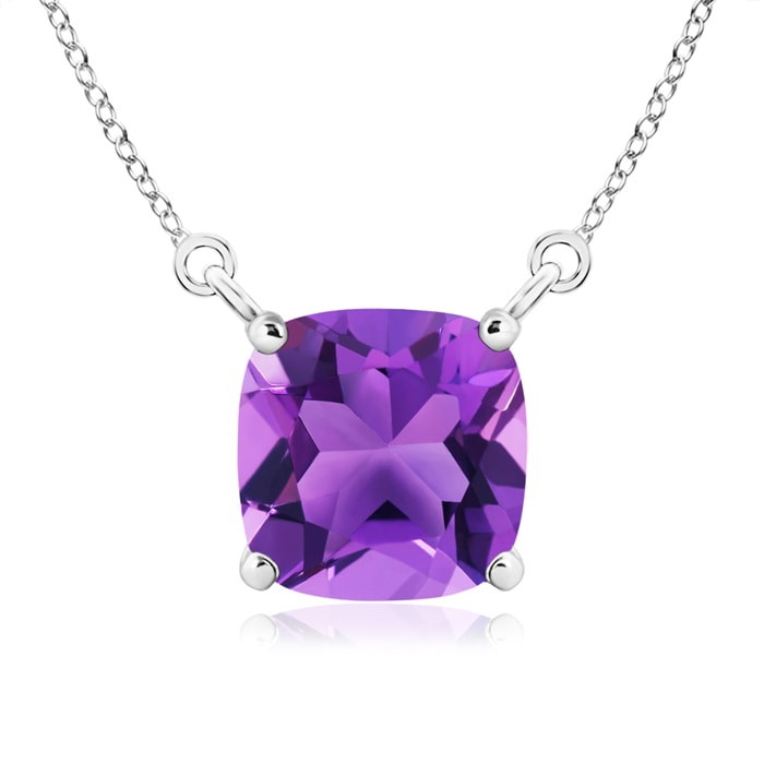 Angara Solitaire Cushion Amethyst Pendant with Diamond Accents ot7LDN