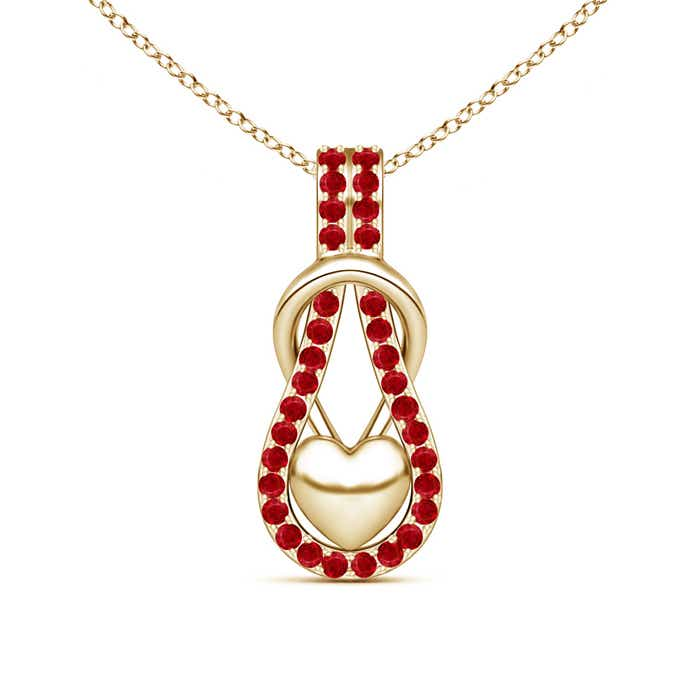 Angara Ruby Infinity Knot Pendant with Diamonds yQODkixG