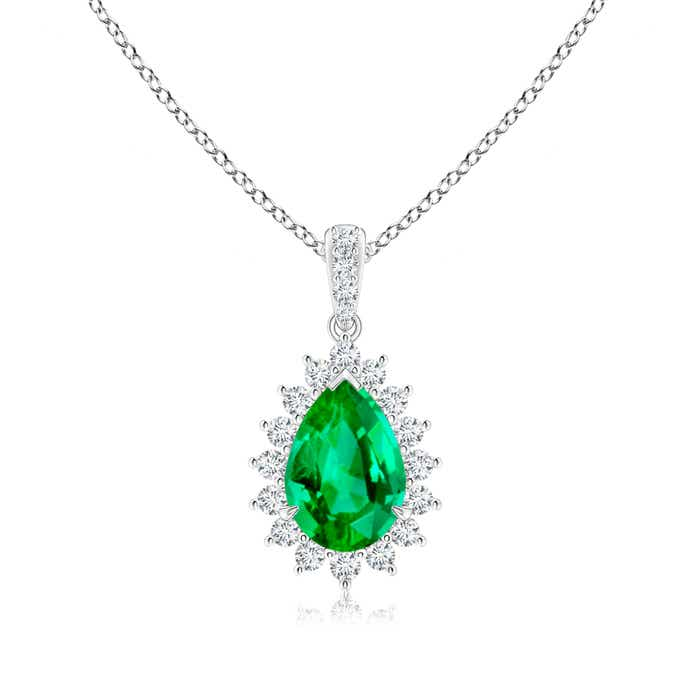 Angara Emerald Teardrop Pendant in Yellow Gold R6o0EDPpLv