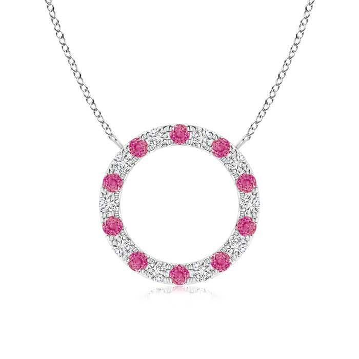 Angara Pink Sapphire Open Circle Eternity Pendant nE2iHt