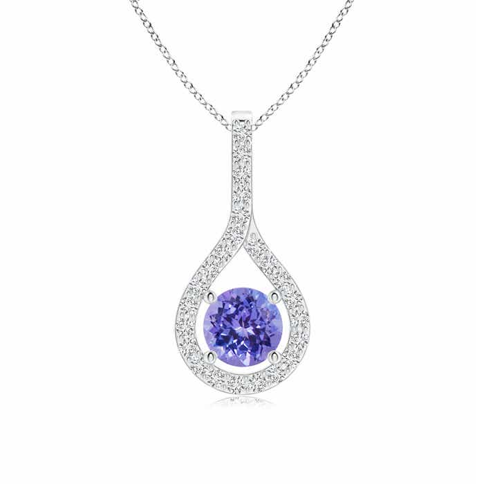 Angara Floating Tanzanite Drop Pendant with Diamond Accents JhEVX3g