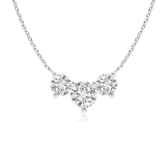 Angara Classic Trio Diamond Necklace K9aV6SP31y