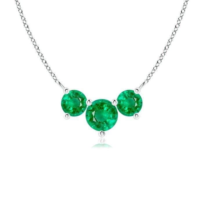 Angara Womens Emerald Necklace in Rose Gold BpkJeVDMe